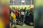 An ugly brawl between spectators erupted at Adelaide Oval during the weekend. Facebook / Brandon Williss