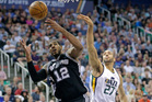 San Antonio Spurs forward LaMarcus Aldridge and Utah Jazz center Rudy Gobert will both be in the playoffs. Photo / AP