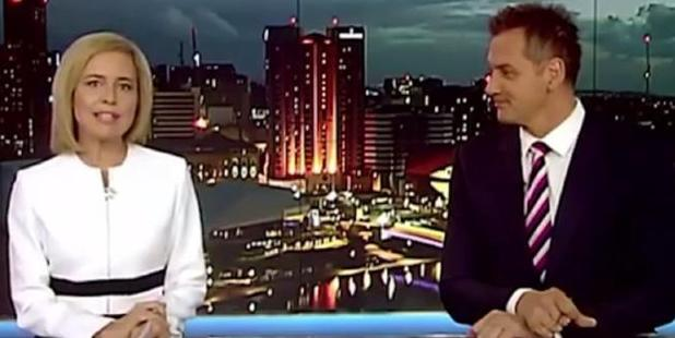 Loading A Channel Seven newsreader dropped the F-bomb live on air during Sunday's broadcast.