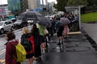People queue for buses in Auckland. Photo / Supplied