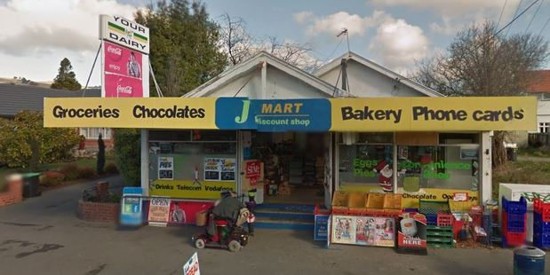 The J-Mart Dairy in Opawa was targeted on April 13. Photo / Google Maps