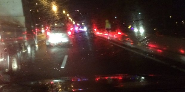 Loading Traffic is backed up on the Royal Rd on ramp. Photo/Supplied