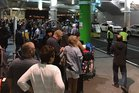 People evacuated from Auckland Airport's international terminal. Photo: Twitter - @pkloczko