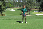 Guy Heveldt stands on the sixth tee block at Augusta National.