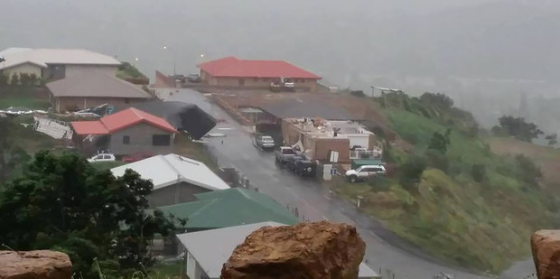 A house lost its roof after strong winds ripped through New Caledonia. Picture / Supplied