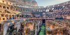 The ancient Colosseum in Rome, Italy.