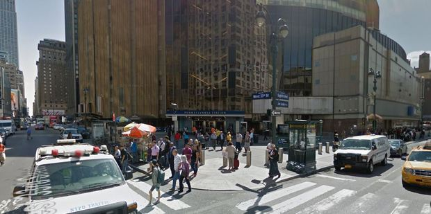 Pennsylvania Station in New York erupted in panic after a man was Tasered by transport police. Photo / Google