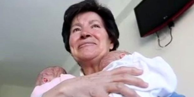 Twins born to 64-year-old woman have been taken into care. Photo / TeleCinco.es