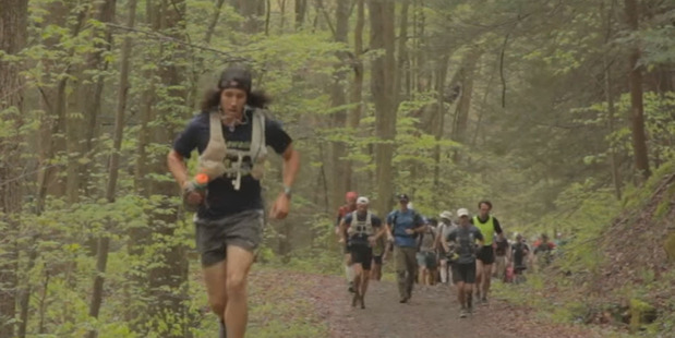 Runners compete in the Barkley Marathons race. Photo / Barkley Movie