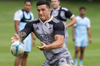 Sonny Bill Williams during a training session with the New Zealand sevens team. Photo / Alan Gibson