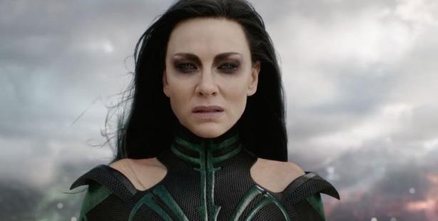 Cate Blanchett in the Thor Ragnarok trailer.