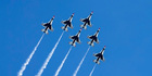 The USAF Thunderbirds are a big attraction at the Wings Over Houston event in October.