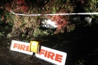 DOWN: A tree has fallen on a car in Iona Road in Havelock North tonight. PHOTO/WARREN BUCKLAND.