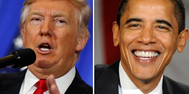 Loading While trump thinks the world is 'a mess', Obama thinks there is never a better time to be alive. Photo / AP