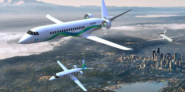 Zunum Aero could offer a security free $36 trip to your destination. Photo / Zunum Aero