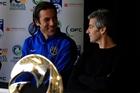 Coach Ramon Tribulietx (left) with Ivan Vicelich. Photo / photosport.nz