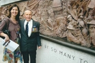 Angela Walker and her father, Ian, about whose wartime experiences she has written a book. Photo / Supplied