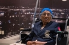 101 year old Man Kaur from India, the oldest competitor at the Masters Games , has arrived in New Zealand