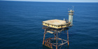 The Frying Pan Tower hotel offers panoramic views from its helipad. Photo / Frying Pan Tower