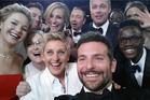 Ellen Degeneres selfie from the 2014 Oscars. Photo / Twitter