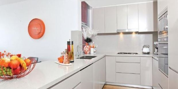 The kitchen of the Camperdown apartment. Photo / Supplied