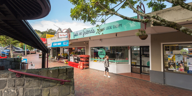 All five tenancies have main road frontage and extensive views of Titirangi through to the Manukau Harbour. Photo / Supplied