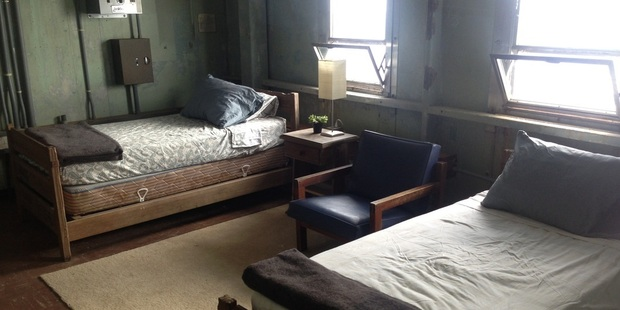 There are five rooms with twin beds at the Frying Pan Tower.