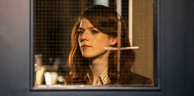 Game of Thrones star Rose Leslie as a young Milner in season two of Utopia.