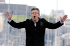 French hard-left presidential candidate, Jean-Luc Melenchon, speaks in Marseille. Photo / AP