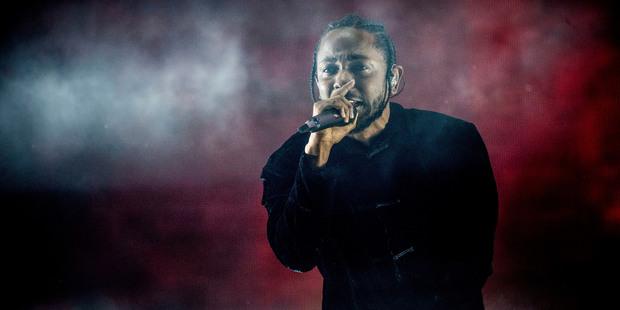 Kendrick Lamar performs at Coachella. Photo/AP