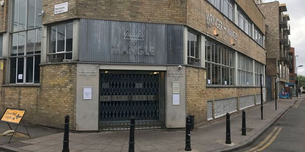 Loading The Mangle nightclub in Dalston, east London. London police are investigating an acid attack at the club. Photo / AP
