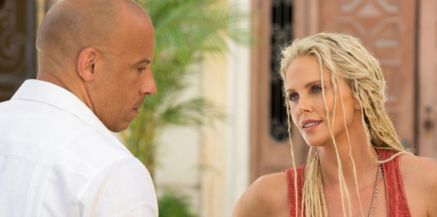 Loading Vin Diesel and Charlize Theron in The Fate of the Furious. Photo/AP