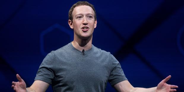Facebook CEO Mark Zuckerberg speaks at his company's annual F8 developer conference. Photo / AP
