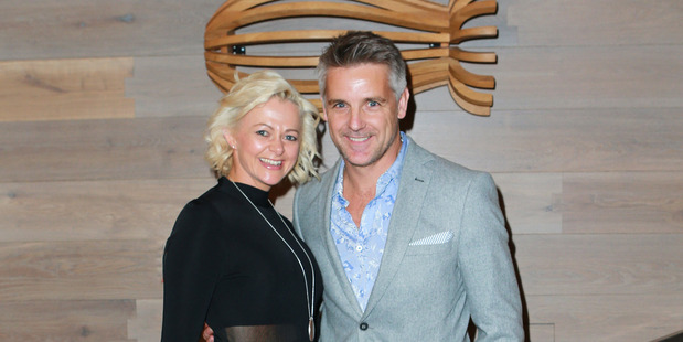 Shane Cortese, pictured with wife Nerida, is joining the world of real estate. Photo / Norrie Montgomery