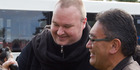 German entrepreneur Kim Dotcom with Mana Party leader Hone Harawira in 2014. Photo / Stephen Parker
