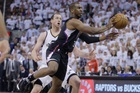 Los Angeles Clippers guard Chris Paul, right, passes the ball as Utah Jazz forward Joe Ingles watches. Photo / AP