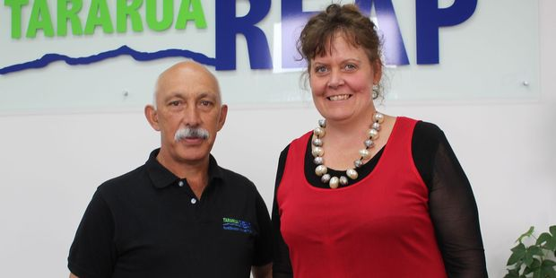 Stephen Paewai, chairman of the governance board of Tararua REAP, with newly appointed manager Janine Bacon.