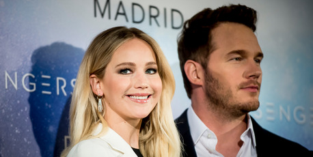 Jennifer Lawrence and Chris Pratt attend the 'Passengers' Madrid Photocall in November, 2016.