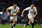 England's Ben Te'o makes a break during his side's Six Nations match against Italy at Twickenham earlier this year. Photo / Getty Images.