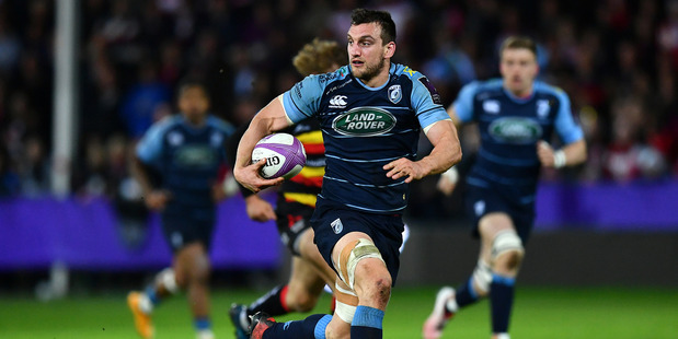 Sam Warburton in action for Cardiff against Gloucester in the European Challenge Cup. Photo / Getty Images.