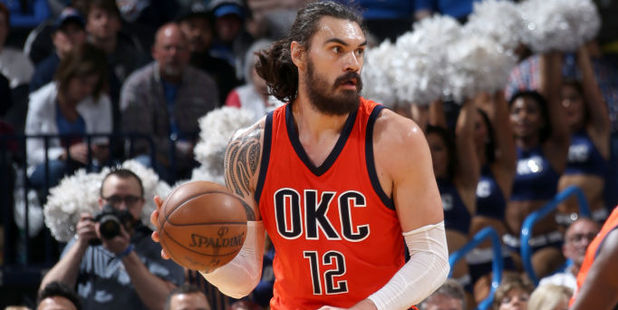 Loading Steven Adams of the Oklahoma City Thunder has copped some criticism from an NBA analyst. Photo / Getty