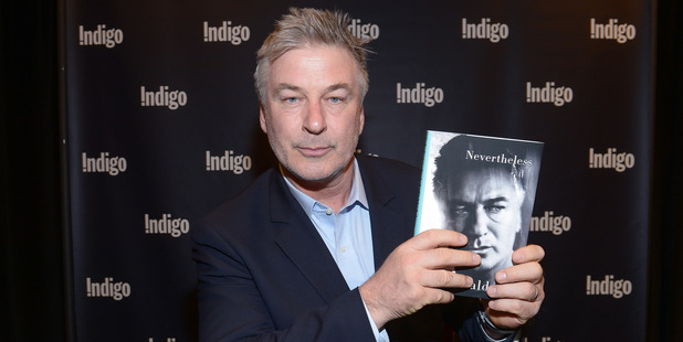 Alec Baldwin signs copies of his new book Nevertheless: A Memoir. Photo / Getty