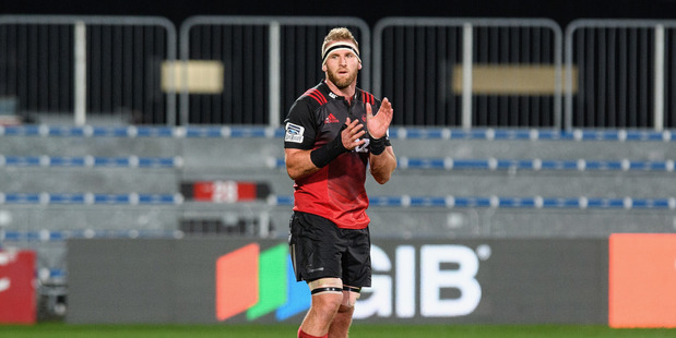 Kieran Read in action during the Crusaders' win over the Sunwolves in Christchurch last week. Photo / Getty Images.