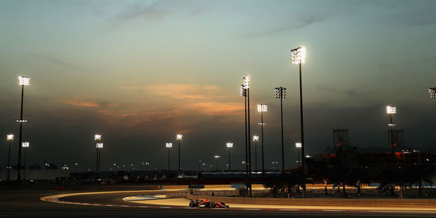 Drivers warm up ahead of the Bahrain Grand Prix. Photo / Getty Images
