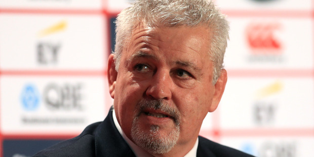 Loading British and Irish Lions coach Warren Gatland at today's squad announcement. Photo / Getty