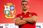 Sam Warburton was named as captain at the Lions squad announcement. Photo / Getty