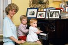 Diana, Princess of Wales with her sons, Prince William and Prince Harry, at Kensington Palace. Photo / Getty Images
