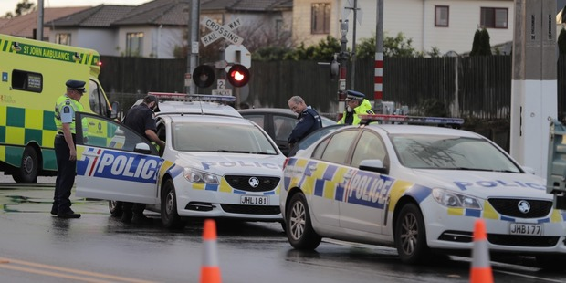 Loading Police are responding to a crash at Ranui train station. Photo / Michael Craig