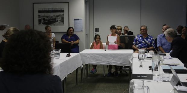 Jaya Patel addresses the Waitematā Local Board. Photo / Supplied
