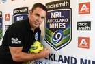 Rugby league star Brad Fittler in Auckland to promote the NRL Auckland Nines. Photo/Photosport